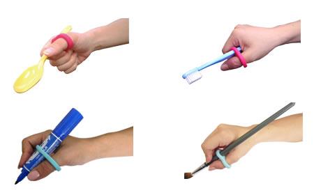 Qリングは鉛筆以外でも、様々なものに使用できます。